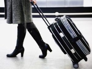 Handbagage op het vliegveld