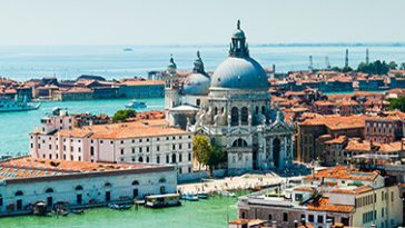 Overzicht over Venetië, Italië