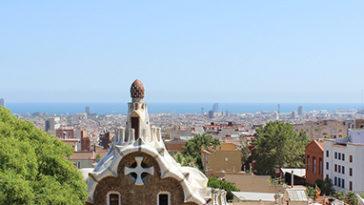 Uitzicht over Barcelona vanaf Parque Guadi