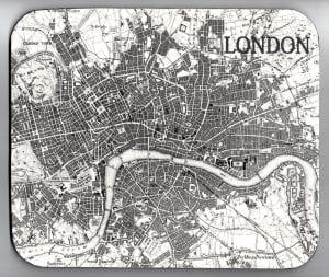 Kaart van oud Londen