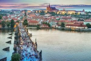 Prachtig uitzicht over Praag