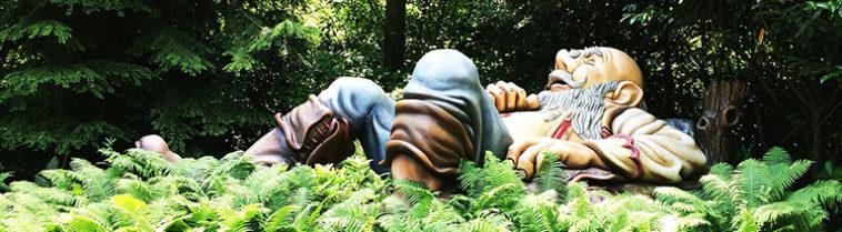Slapende reus in het sprookjesbos in de Efteling