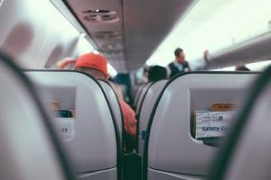 Binnenkant van het vliegtuig