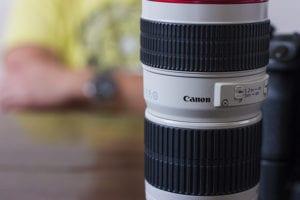Canon 70-200 F4 L die ik gebruik voor dierentuinfotografie