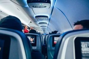 Film of serie in het vliegtuig