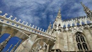 Kathedraal van Milaan boog