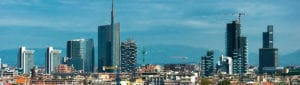 Skyline van Milaan