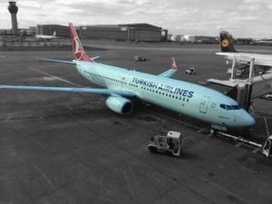 Vliegtuig van Turkish Airlines