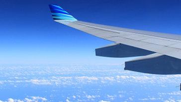 Uitzicht vanuit het vliegtuig