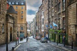 De oude straten van Edinburgh
