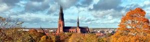 Kerk van Uppsala in Zweden