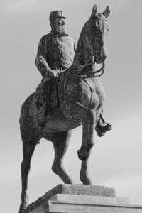 Standbeeld van Koning Leopold II in Oostende