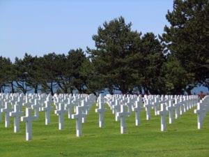Militaire begraafplaats in Colleville-sur-Mer