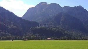 Slot Neuschwanstein vanaf de weg gezien
