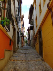 Straatje in Granada
