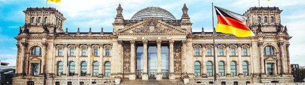 Rijksdag gebouw in Berlijn
