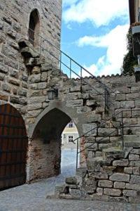 Trap in Dinkelsbuhl langs de Romantische Strasse