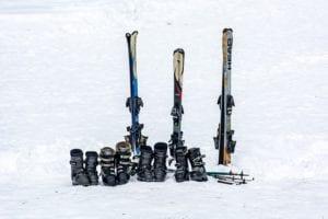 Skispullen voor de wintersport