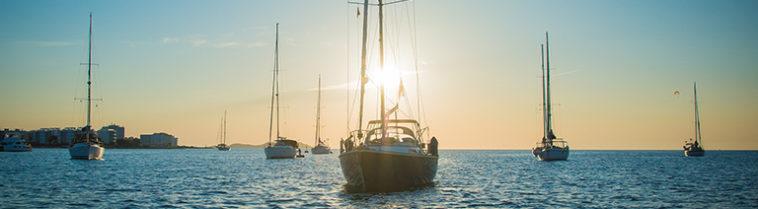 Yachten op Ibiza