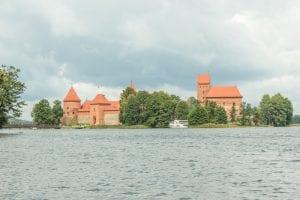 Kasteel in het meer bij Trakai