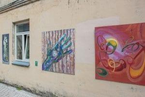 Kunstwerken in Užupis