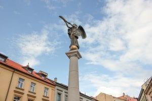 Standbeeld in Vilnius