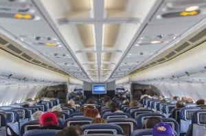 Vliegtuig stoelen economy class