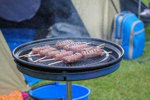 Barbeque op de camping aan de voet van Snowdon