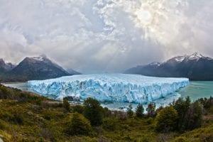 Blauwe gletsjer in Argentinië