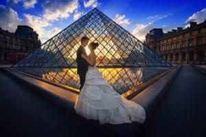 Huwelijksreis in Parijs