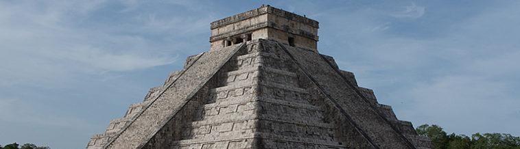 Topje van de tempel in Chitzén Itzá