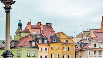 Centrum van Warschau