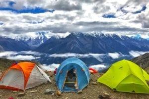 Tent voor het hiken