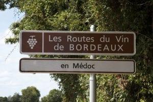 Bordeaux wijnroute door Frankrijk