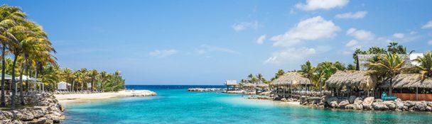 Curacao in de caraibische zee
